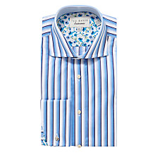 Buy Ted Baker Endurance Winster Sterling Stripe Shirt, Blue Online at johnlewis.com