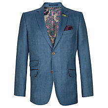 Buy Ted Baker Endurance Minbrec Herringbone Wool Blazer, Blue Online at johnlewis.com