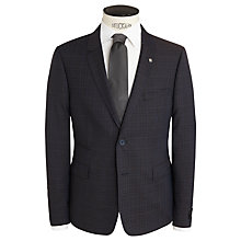 Buy Ted Baker Roibosj Check Wool Suit Jacket, Brown Online at johnlewis.com