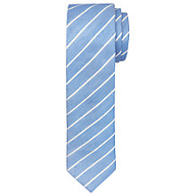 Buy Ted Baker Tighta Striped Silk Linen Tie, Blue Online at johnlewis.com