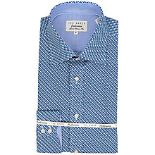 Buy Ted Baker Sterling Geometric Pattern Shirt, Blue Online at johnlewis.com