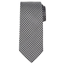 Buy CK Calvin Klein Geo Circle Silk Tie, Black Online at johnlewis.com