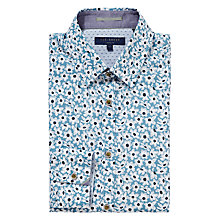 Buy Ted Baker Rudeboi Floral Print Shirt, Blue Online at johnlewis.com
