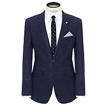 Buy John Lewis Wool Silk Fleck Tailored Blazer, Indigo Online at johnlewis.com