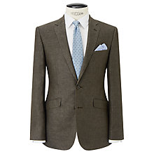 Buy John Lewis Italian Linen Basketweave Tailored Jacket, Brown Online at johnlewis.com