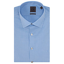 Buy CK Calvin Klein Cannes Mini Gingham Shirt, Blue Cloud Online at johnlewis.com