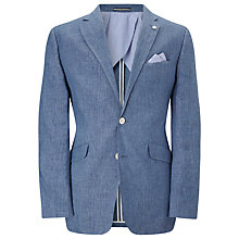 Buy John Lewis Delave Linen Tailored Jacket, Blue Online at johnlewis.com