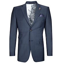 Buy Ted Baker Doltjak Sterling Semi Plain Suit Jacket, Cornflower Online at johnlewis.com