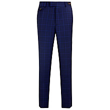 Buy Ted Baker Endurance Benwelt Sterling Wool Check Suit Trousers, Bright Blue Online at johnlewis.com