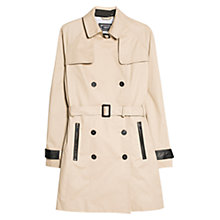 Buy Mango Contrast Trim Trench Coat, Light Beige Online at johnlewis.com