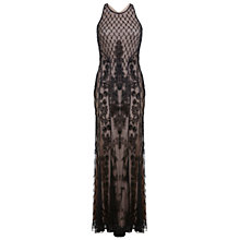 Buy Miss Selfridge Premium Collection Deco Beaded Maxi Dress, Black Online at johnlewis.com
