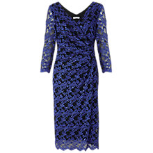 Buy Gina Bacconi Two Tone Stretch Sequin Dress, Royal Blue Online at johnlewis.com