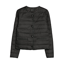 Buy Mango Elbow Patch Coat, Medium Grey Online at johnlewis.com