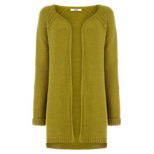 Buy Oasis Waffle Cardigan, Mid Green Online at johnlewis.com
