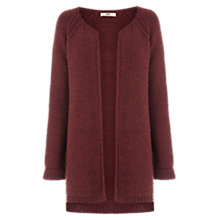 Buy Oasis Waffle Cardigan, Mid Orange Online at johnlewis.com