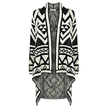 Buy Oasis Aztec Cardigan, Black / White Online at johnlewis.com