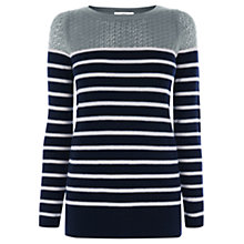 Buy Oasis Stripe Block Top Online at johnlewis.com