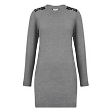 Buy Whistles Lace Back Knitted Dress, Dark Grey Online at johnlewis.com