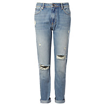 Buy Whistles Distressed Boyfriend Jeans, Denim Online at johnlewis.com