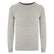 Buy Fred Perry Cotton Crew Neck Sweatshirt, Stone Marl Online at johnlewis.com