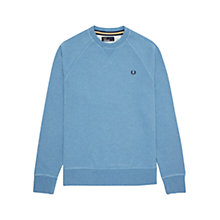 Buy Fred Perry Loop Back Crew Neck Jumper Online at johnlewis.com