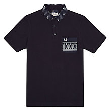 Buy Fred Perry Drake's Paisley Collar Polo Shirt, Navy Online at johnlewis.com