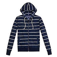 Buy Tommy Hilfiger Baystripe Cotton Hoodie, Dark Indigo/Classic White Online at johnlewis.com