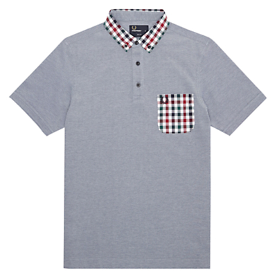 Fred Perry Gingham Trim Pique Polo Shirt