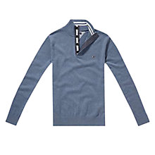 Buy Tommy Hilfiger Adrien Button Neck Cotton Jumper Online at johnlewis.com
