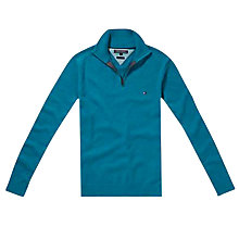 Buy Tommy Hilfiger Adrien Zip Through Cotton Cardigan Online at johnlewis.com