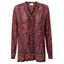 Buy East Tamina Print Blouse, Espresso Online at johnlewis.com
