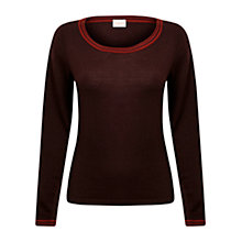 Buy East Stripe Trim Jumper, Espresso Online at johnlewis.com