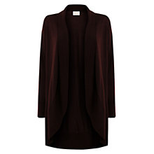Buy East Curved Hem Merino Cardigan, Espresso Online at johnlewis.com