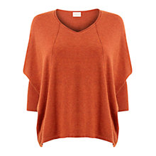 Buy East Oversized Seam Jumper, Ginger Online at johnlewis.com