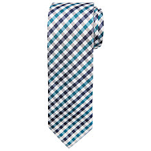 Buy Chester by Chester Barrie Gingham Check Silk Tie, Teal/Navy Online at johnlewis.com