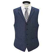 Buy Chester by Chester Barrie Sharkskin Wool Waistcoat, Mid Blue Online at johnlewis.com