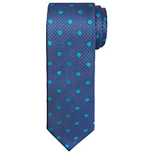 Buy Chester by Chester Barrie Houndstooth Tea Spot Tie, Navy/Teal Online at johnlewis.com
