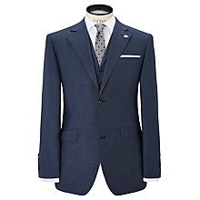 Buy Chester by Chester Barrie Sharkskin Suit Jacket, Mid Blue Online at johnlewis.com