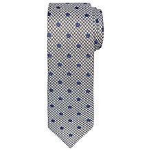 Buy Chester by Chester Barrie Puppytooth Silk Tie, Grey/Navy Online at johnlewis.com