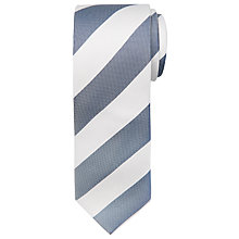 Buy Chester by Chester Barrie Silk Wide Stripe Tie, Navy/White Online at johnlewis.com