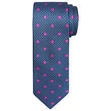 Buy Chester by Chester Barrie Houndstooth Silk Tie, Navy/Pink Online at johnlewis.com