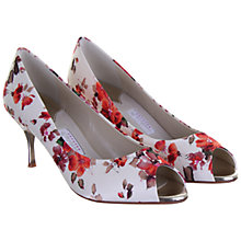 Buy Rainbow Couture Cleo Floral Print Satin Peep Toe Shoes, Multi Online at johnlewis.com