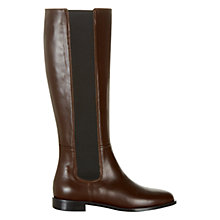Buy Hobbs Ashley Slip On Knee High Boots, Chocolate Online at johnlewis.com