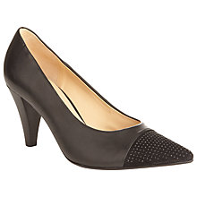 Buy Gabor Brax Leather Court Shoes, Black Online at johnlewis.com