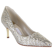 Buy Rainbow Couture Vita Glitter Covered Court Shoes, Ivory Online at johnlewis.com