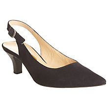 Buy Gabor Hume Suede Sling Back Court Shoes, Navy Online at johnlewis.com