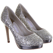 Buy Rainbow Couture Seralio Glitter Covered Court Shoes, Silver Online at johnlewis.com