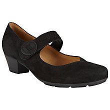 Buy Gabor Odeon Nubuck Mary-Jane Shoes, Black Online at johnlewis.com
