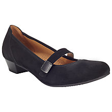 Buy Gabor Copse Suede Pumps, Black Online at johnlewis.com