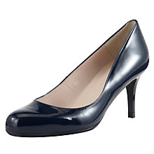 Buy John Lewis Etta Court Heels, Navy Patent Online at johnlewis.com